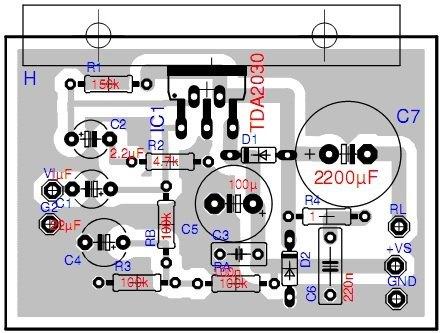 Amplificador de audio TDA2030