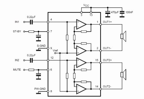 esquema de bloque amplificador 15 watios