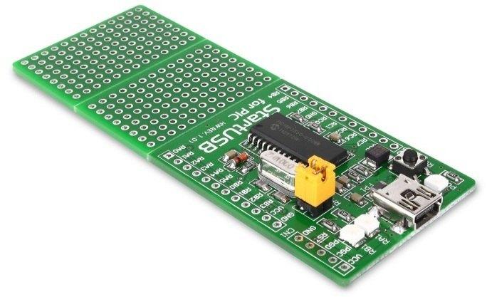 placa desarrollo PIC18F2550 mikroe