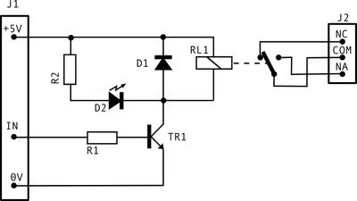 esquema módulo relé