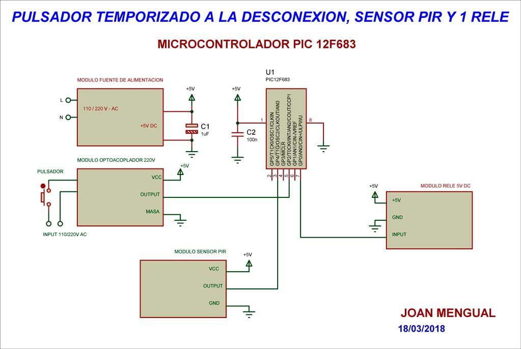 Esquema sensor de movimiento
