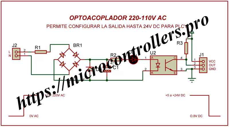 Esquema-Modulo-optoacoplador-220V-AC