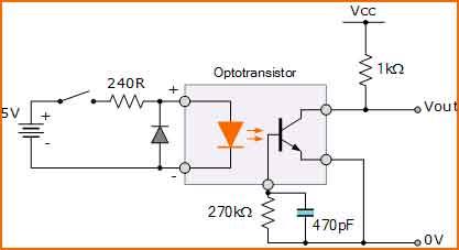 Optoacoplador en CC