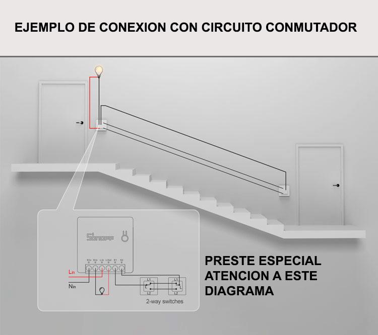 Como conectar un sonoff mini a un interruptor o pulsador