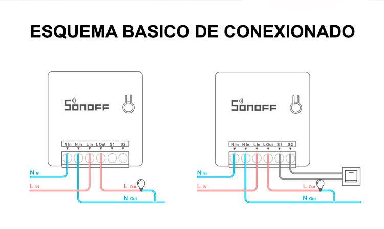esquema basico de conexion del sonoff