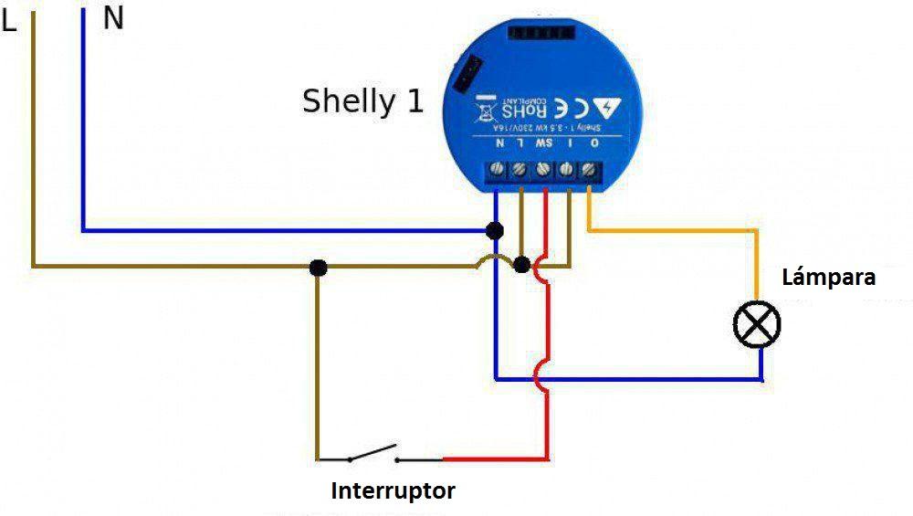 facil conexion de un shelly 1