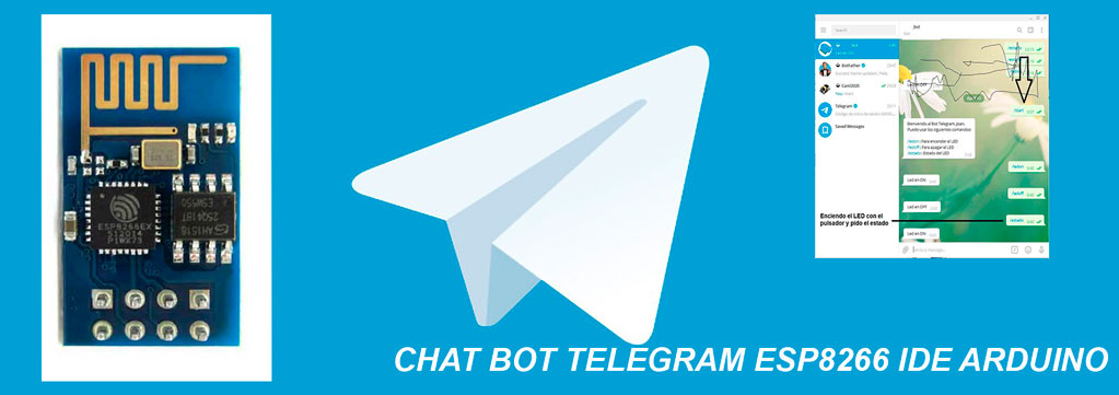 Chat Bot Telegram con ESP8266 programado con Arduino-WIFI---Tutorial