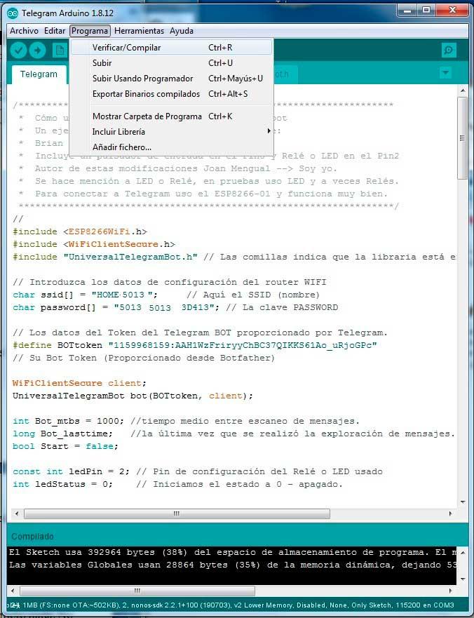 Compilar-sketch-telegram-bot-esp8266