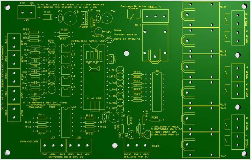 PCB-Plc-Arduino-NANO-componentes