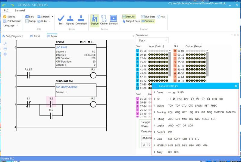 editor ladder para arduino Outseal PLC