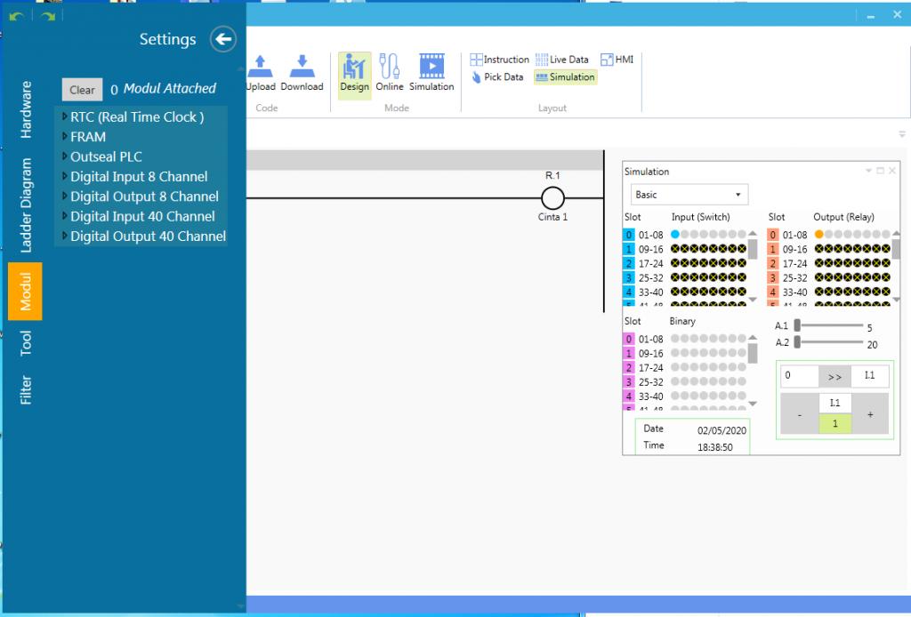 modulo E_S del editor ladder arduino plc