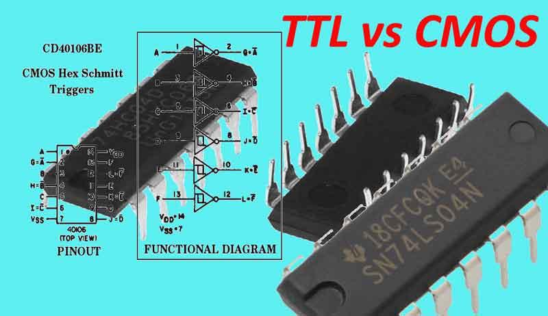 Diferencia entre TTL vs CMOS