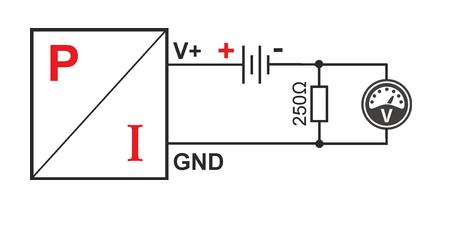 Bucle de corriente 4-20mA diagrama de conexión