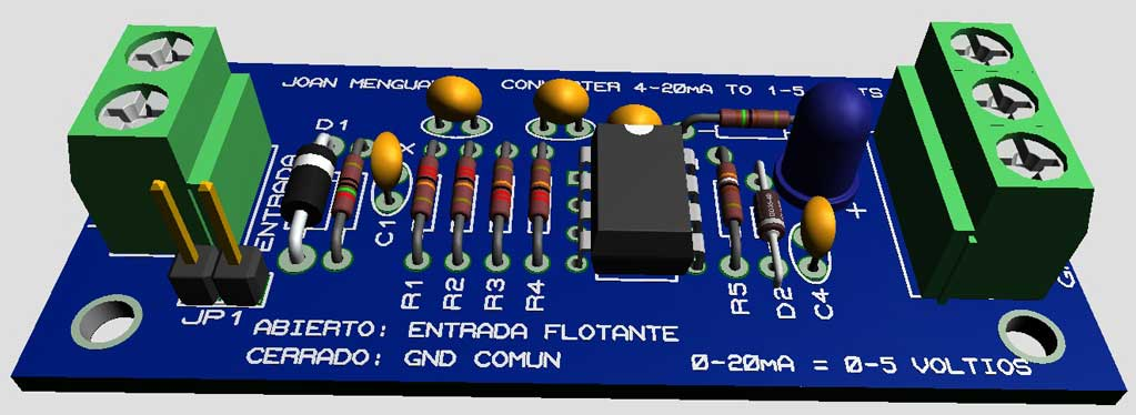 Interface bucle de corriente 4-20mA to 1-5V