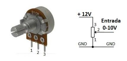Potenciometro conversor voltios a corriente